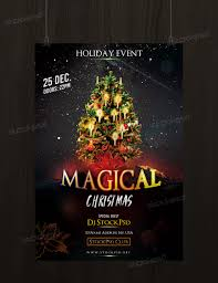 magical christmas psd flyer template net celebrate christmas this awesome flyer template
