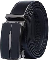 <b>Mens</b> Belt Genuine <b>Leather</b> Adjustable <b>Ratchet</b> Belt with Automatic ...
