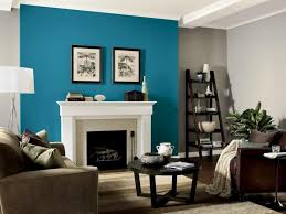 tan and blue bedroom