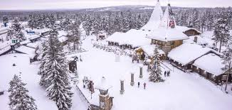 <b>Santa Claus</b> Village in Rovaniemi in Lapland Finland Arctic Circle