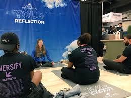 comcast careers comcastcareers s twitter profile twicopy alyssa leads members of the hbcusxsw17 delegation in yoga comcastsxsw