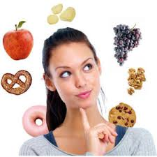 Woman Considering Snacking Options