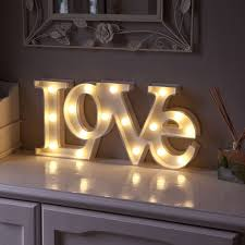 warm white led battery love marquee light up circus letter sign with timer cheap home lighting