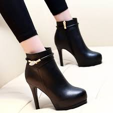 <b>Women</b> Ankle Boots Platform Stilettos leather <b>Dropshipping Women</b> ...