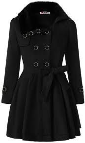 Womens Long Wool Winter Coats Double-Breasted ... - Amazon.com