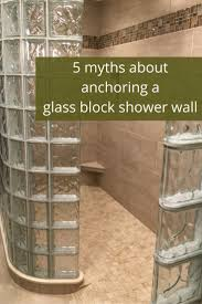 ideas shower systems pinterest: there is a lot of wrong information on how to anchor a glass block shower wall