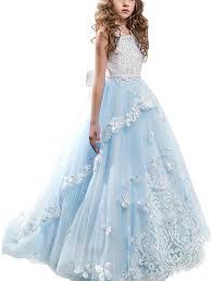 Little Big Girls Flower Wedding Lace Long ... - Amazon.com