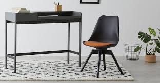 Thelma <b>office chair</b>, <b>Black</b> and Orange | MADE.com