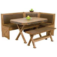 designs sedona table top base: sunny designs sedona breakfast nook set with upholstered seats amp slate tile