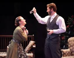 theater review powerful nora breaks out of a doll s house jessie taylor as nora and mike perez as her husband torvald in the fsu asolo
