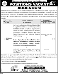 gov t of the punjab educators ese science math jobs 2016 17 4 result awaiting candidates are not eligible or any other degree having grade psed ese ad