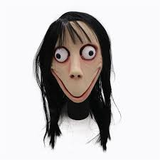Hot <b>Game Scary</b> Momo Latex Full Head <b>Mask</b> Cosplay <b>Halloween</b> ...