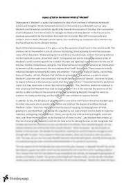 macbeth essay   year  hsc   english  advanced    thinkswapmacbeth essay