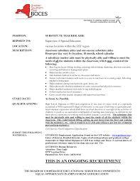 resume for substitute teacher resume for substitute teacher 0758