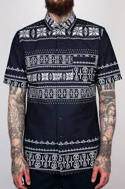 Рубашка CROOKS & CASTLES - Native S/S <b>Shirt</b> (True Navy, L ...