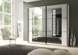 Sliding Door Bedroom Furniture Memphis Glass Sliding 2 Door Wardrobe Matt White And Black Bedroom