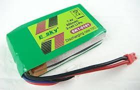 <b>ESKY</b> LAMA 000173 <b>EK1</b>-<b>0181</b> 7.4V 10C 800mAh Lipo <b>Battery</b> Free ...