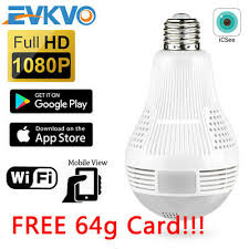 WIFI IP <b>Camera</b> Light <b>Bulb HD 1080P</b> SPY Panoramic 360 Degree ...