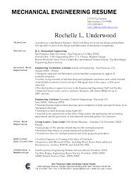 mechanical engineering internship resumes template engineering resume examples for students