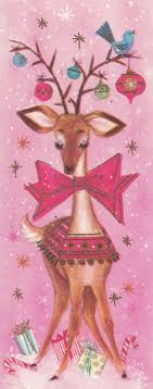 vintage decor clic: retro christmas card all in pinkhow sweet is that