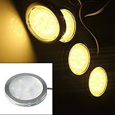 Buy <b>1Pc LED Cabinet</b> Light Round Mini Size Aluminium 3W 12v ...