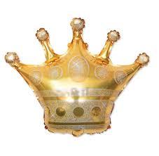 DHL 68*73CM Gold Crown <b>Helium Balloon Princess</b> Crown <b>Foil</b> ...