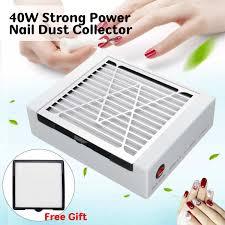 40W <b>Adjustable Speed</b> Nail Dust Collector Vacuum Cleaner <b>Nail Art</b> ...