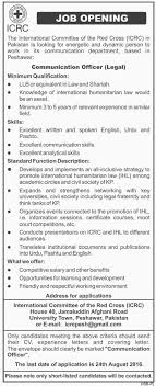 icrc online apply opportunity in the international committee of icrc online apply opportunity in the international committee of the red cross peshawar 14th 2016