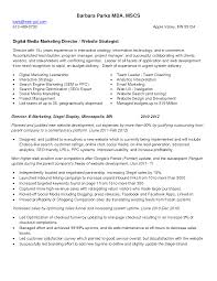 media resume digital media resume