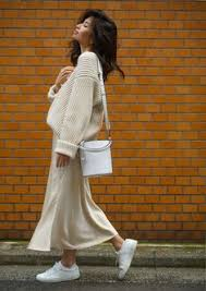 <b>Ribbed</b> Wool Sweater Two Ways | <b>Winter</b> skirt outfit, Satin skirt, Skirt ...