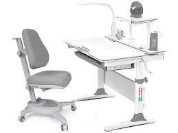 <b>Стол</b> и стул детский <b>комплект</b> с <b>лампой Mealux Evo</b>-<b>30</b> G Y-110 G ...