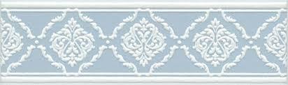<b>Бордюр настенный</b> Петергоф голубой <b>Бордюр 25х7</b>,<b>7</b>