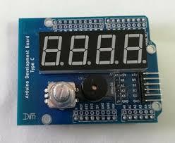 Arduino UNO <b>Prototyping Shield</b> With On-<b>Board</b> MAX7219 Rotary ...