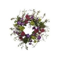 """<b>Hyacinth</b> and Fennel Seed <b>Artificial Floral</b> 24"""" PE/Twig <b>Wreath</b> ..."""