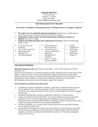 job winning certified substitute teacher resume sample five fullsize by barry glen job winning certified substitute teacher resume sample five