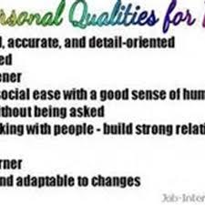 volunteer resume sample volunteer personal attributes resume    personal attributes
