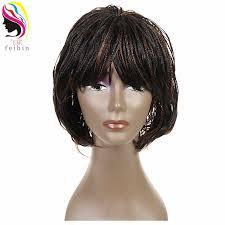 <b>Feibin Braided</b> Wigs Short Afro <b>Twist</b> Synthetic <b>Braiding</b> Hair Wig ...