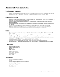 sample it professional resume