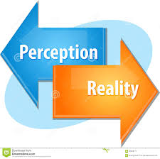 perception vs reality fact fiction proving truth versus myth stock perception reality business diagram illustration stock image