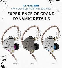 XuBa <b>KZ ZSN pro Quad-core</b> Moving Double Circle Bass in-Ear ...