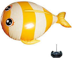 F Fityle <b>Infrared</b> RC Inflatable <b>Flying Fish</b> Balloon Kids Children Toy ...