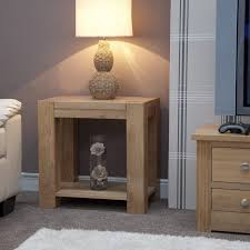 Wooden Living Room Furniture Pemberton Solid Chunky Oak Living Room Furniture Lamp Sofa Side