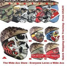 New Full <b>Face Mask</b> Skull Reversible Neoprene <b>Halloween</b> Snow ...
