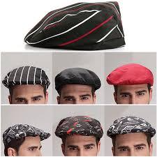 <b>Chef Hats</b> Cafe Waiter Uniform Beret Kitchen <b>Cooking Cap</b> ...