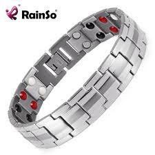 Rainso <b>Fashion Jewelry</b> Healing FIR Magnetic Titanium Bio Energy ...
