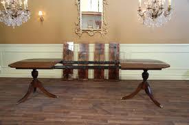 Chippendale Dining Room Table Stickley Dining Table Double Pedestal Dining Room Table