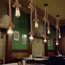 1M Industrial <b>Retro Hemp Rope</b> Ceiling Light <b>Pendant</b> Lamp ...