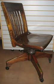 vintage wooden office chair antique wood office chair