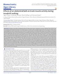 (PDF) Effects of an <b>abdominal</b> belt on trunk muscle activity during ...