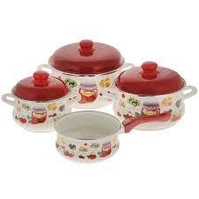 """<b>Набор эмалированной посуды</b> Metrot """"Варенье"""", цвет: белый ..."""